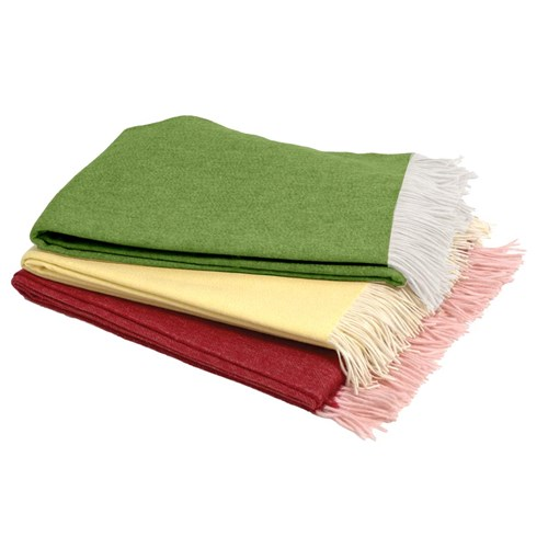 Cashmere Fringed Throw (Assorted Colors)