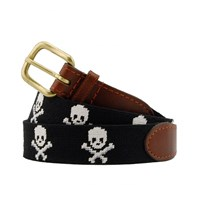 Jolly Roger Needlepoint Belt