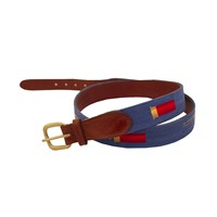 Shotgun & Shell Needlepoint Belt