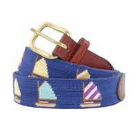 Rainbow Fleet Needlepoint Belt