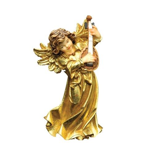 Golden Wood Angel with Lute