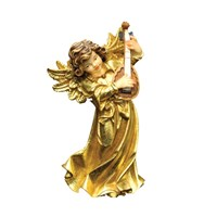 Golden Wood Angel with Violin