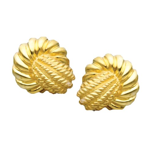 Fluted Doorknocker Earrings