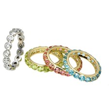 18K Gold Studded Stackable Rings