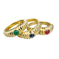 Stackable Rings (Assorted Precious Stones)
