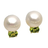 Freshwater Pearl & Peridot Earrings