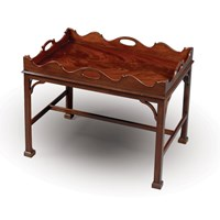 Mahogany Tray on Stand