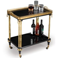 Black & Gold Regency Tea Trolley