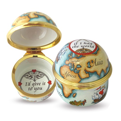 """If I Had the World I'd Give It To You"" Domed Enamel Box"