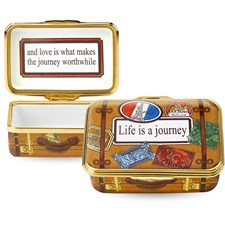 "Halcyon Days ""Life Is A Journey"" Enamel Box"