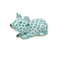 Herend Little Piggy Lying Figurine