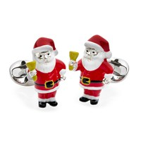 Santa with Bell Sterling Silver Cufflinks