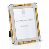 William Yeoward Bamboo & Silverplate Frame