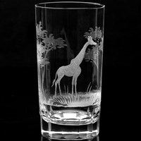 "Queen Lace ""Kenyan Wildlife"" Crystal Highballs"