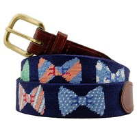 Petitpoint Bow Ties Belt