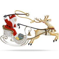 Pewter Santa in Sleigh Ornament