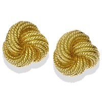 "18k Gold ""Swirl Knot"" Rope Earrings"