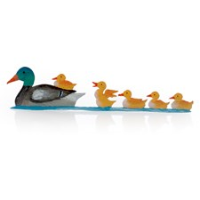 Pewter Duck Family