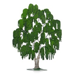 Pewter Weeping Willow Tree, Green
