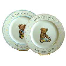 Baby Bear Personalized Plate