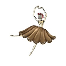 Gold Ballerina Pin