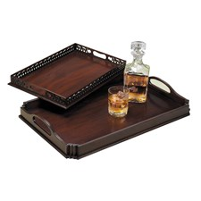 Mahogany Serving Trays
