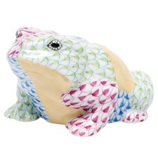Herend Patchwork Frog