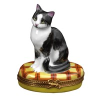 Black & White Cat Limoges Box