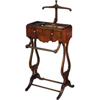 Mahogany Two Drawer Valet Stand