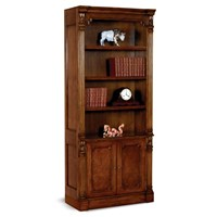 Tall Burl Wood Bookcase