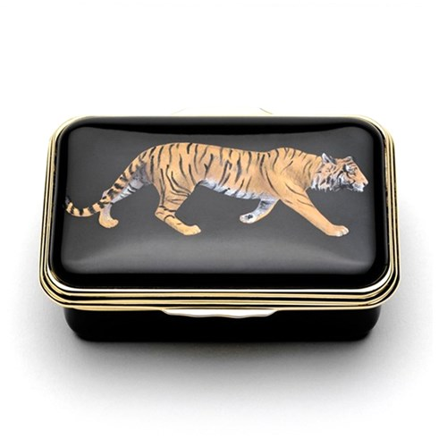 Halcyon Days Tiger Enamel Box