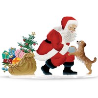 Pewter Santa with Faithful Friend