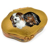 King Charles Spaniel Limoges Box
