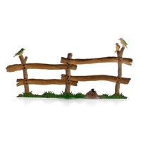 Pewter Woodland Fence