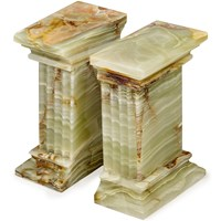 Renaissance Whirl Green Onyx Bookends
