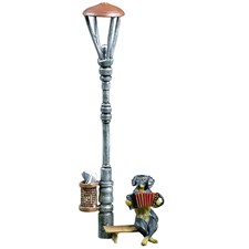 Austrian Bronze Dachshund on Bench with Accordion Figurine