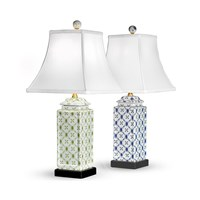 Porcelain Vine and Trellis Lamps