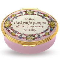 "Halcyon Days ""Mother Thank You for Giving Me..."" Enamel Box"