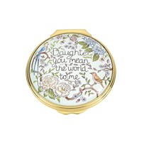 "Halcyon Days ""Daughter You Mean The World To Me"" Enamel Box"