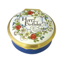 Happy Birthday Enamel Box