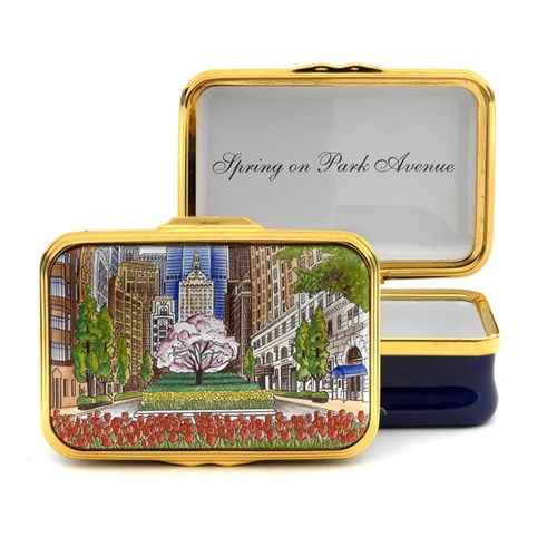 Halcyon Days Spring on Park Avenue Enamel Box