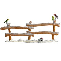 Winter Wooden Fence Pewter Figurine