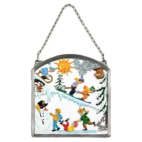 """Fun In Snow"" Wall Hanging"