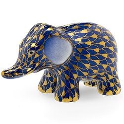 Herend Cobalt  Little Elephant