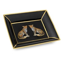 Halcyon Days Twin Leopard Trinket Tray