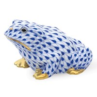 Herend Sapphire Frog