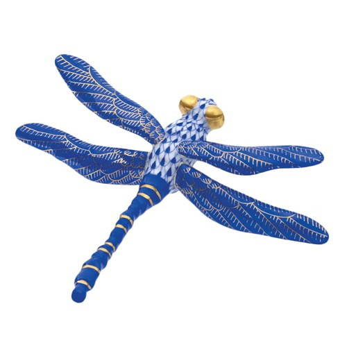 Herend Sapphire Blue Dragonfly