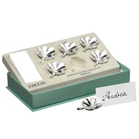 Silverplate Four-Leaf Clover Place Card Holders, Set of 6