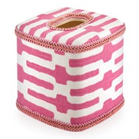 Palm Beach Tissue Box Cover, Pink