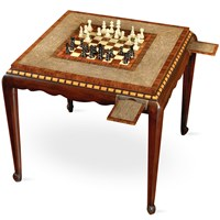 Rosewood and Mahogany Game Table
